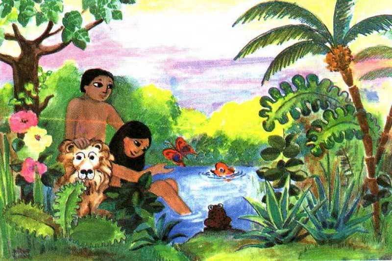 Dibujos de adan y eva a color imagui for Adan y eva en el jardin del eden para colorear